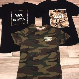 Men's small rvca and vans tee (3)